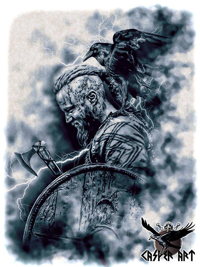 vikings_ragnar_by_thecasperart-d82l1f3
